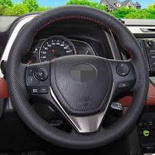 toyota corolla steering wheel cover aliexpress com buy black artificial leather car steering wheel