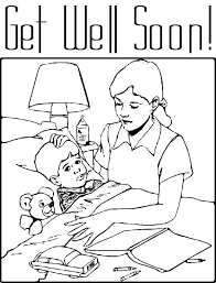 get well soon for children get well soon coloring page for kids free printable picture