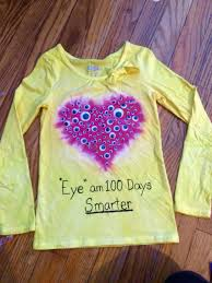 diy tie dyed 100 days of googlie eyes shirt diy