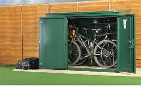 Backyard Storage Solutions Modern Exterior With Outdoor Heavy Duty Steel Bicycle Storage