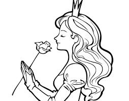 imagenes para colorear rosas dibujo de princesa y rosa para colorear dibujos net