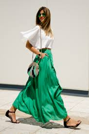 flowy maxi skirts how to style a maxi skirt the everygirl