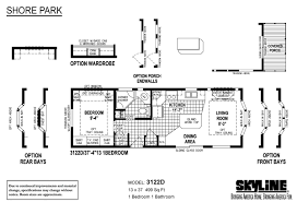 skyline manufactured homes floor plans shore park 3122d by skyline homes park models