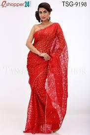 jamdani sharee tangail moslin jamdani saree tsg 9198 online shopping in