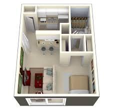 50 Square Feet by 50 Studio Apartment Floor Plans