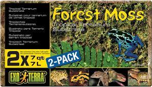 exo terra forest moss tropical terrarium reptile substrate 7 qt