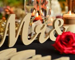 mr mrs sign for wedding table custom name sign top table sign for wedding mr and mrs family