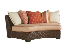 Thomasville Patio Furniture Replacement Cushions by Ocean Club Pacifica Armless Curved Sofa Lexington Home Brands