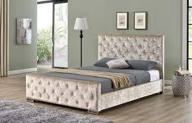 Crushed Velvet Bed New Berkeley Crushed Velvet Fabric Bed
