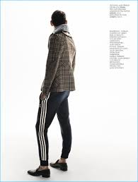 plaids en laine l u0027express styles brings a sporty element to fall fashions