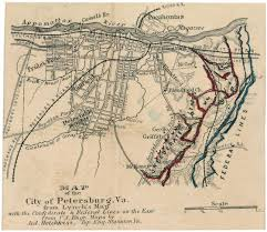 Map Of Usa During Civil War by Map Of The City Of Petersburg Va Civil War Trust