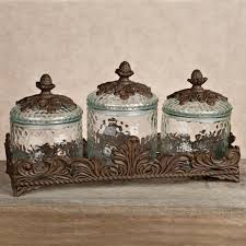 tuscan kitchen canisters sets the gg collection baroque 3 glass canister set use for