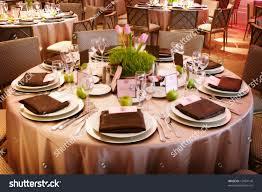 table setting luxury wedding reception stock photo 12854140