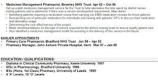 online pharmacist sample resume pharmacist cv sample