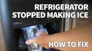 whirlpool ice maker red light flashing refrigerator ice maker not making ice easy fix zero cost youtube
