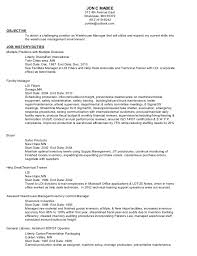 Objectives In Resume For Any Position 6 Resume Objective For Warehouse Position Sample Resumes