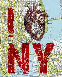 Nyc City Map Large Art Print I Heart Ny I Love Ny New York City Map Page