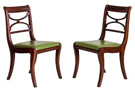 Regency Dining Chairs Mahogany Regency Saber Leg Dining Chairs Janney U0027s Collection