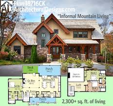 cool mountain house plans with basement amazing home design unique
