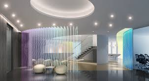 3d model lobby with stylish wall partition cgtrader