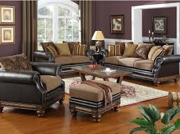 living room decor with brown leather sofa top preferred home design