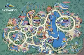 Florida Attractions Map by Orlando Fl Map Seaworld Florida Attractions Sea Harbor Dr Mappery