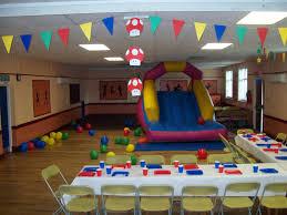 mario birthday party stripes and mario birthday party