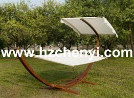 outdoor wooden furniture hammock with canopy wood hammock stand