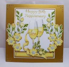 wedding anniversary cards 50th wedding anniversary card front cup313403 1446 craftsuprint
