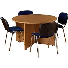 Circular Boardroom Table Bundle Deal Round Meeting Table With 4 Chairs Cheap Bundle