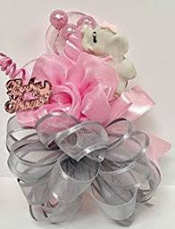 how to make a baby shower corsage pink to be sash baby shower ribbon pink beautiful