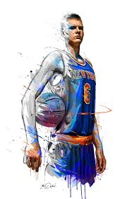 best 25 custom basketball ideas on pinterest nba updates nba for the all star weekend my painting of kristaps porzingis the new star custom basketballbasketball