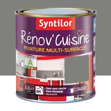 peinture resine pour meuble de cuisine peinture rénov cuisine syntilor poivre gris 0 5 l leroy merlin