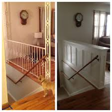 entry stair railing u2013 split foyer wall ideas walls and split foyer