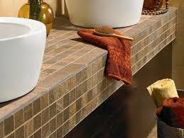 Bathroom Countertop Tile Ideas Tile Bathroom Countertop Ideas