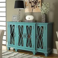 sanctuary 4 drawer console table coaster console table with glass doors in teal 950245ii