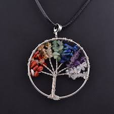 pendant picture necklace images Crystal chakra tree of life pendant necklace infinite beads jpeg
