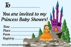 template printable princess baby shower invitations