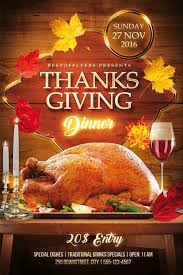 thanksgiving dinner free flyer template best of flyers