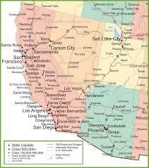 map of az of arizona california nevada and utah