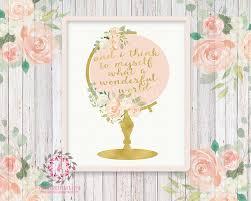 Bohemian Nursery Decor by Wedding Globe Nursery Boho Shabby Chic Wall Art Print And I Think