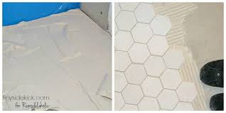How To Tile A Floor Remodelaholic How To Tile A Bathroom Floor