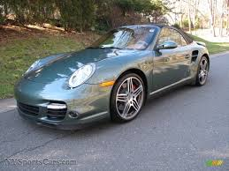 green porsche 911 2008 porsche 911 turbo cabriolet in malachite green metallic