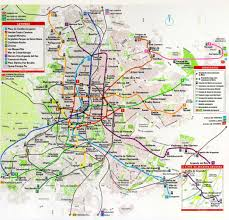 Map Of Spain Cities by Large Detailed Transit Map Of Madrid City Madrid City Large