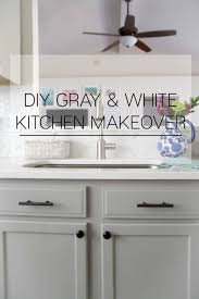 kitchen makeovers with cabinets gray and white kitchen makeover home base