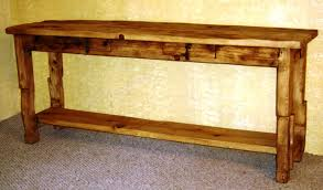 salvaged wood console table beautiful rustic wood console table tedxumkc decoration