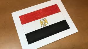 Egypts Flag Egyptian Flag Drawing Youtube
