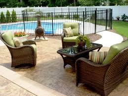 circular patio designs stone design ideas stamped outdoor great