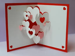 3d pop up christmas cards hearts 3d pop up greeting card card