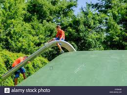 Oklahoma City Botanical Garden Children Play In The Children S Garden Located In The Myriad Stock